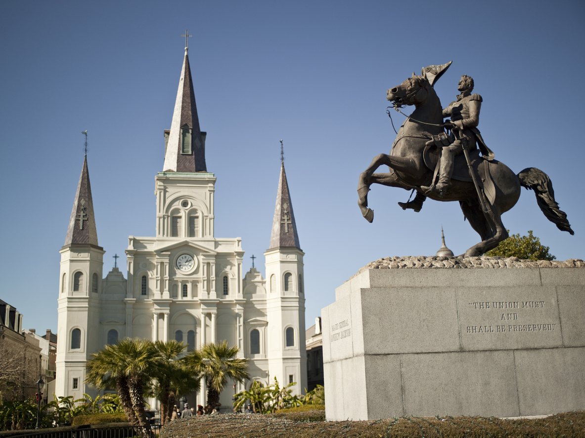 New Orleans, St. Louis Cathedral and General Jackson