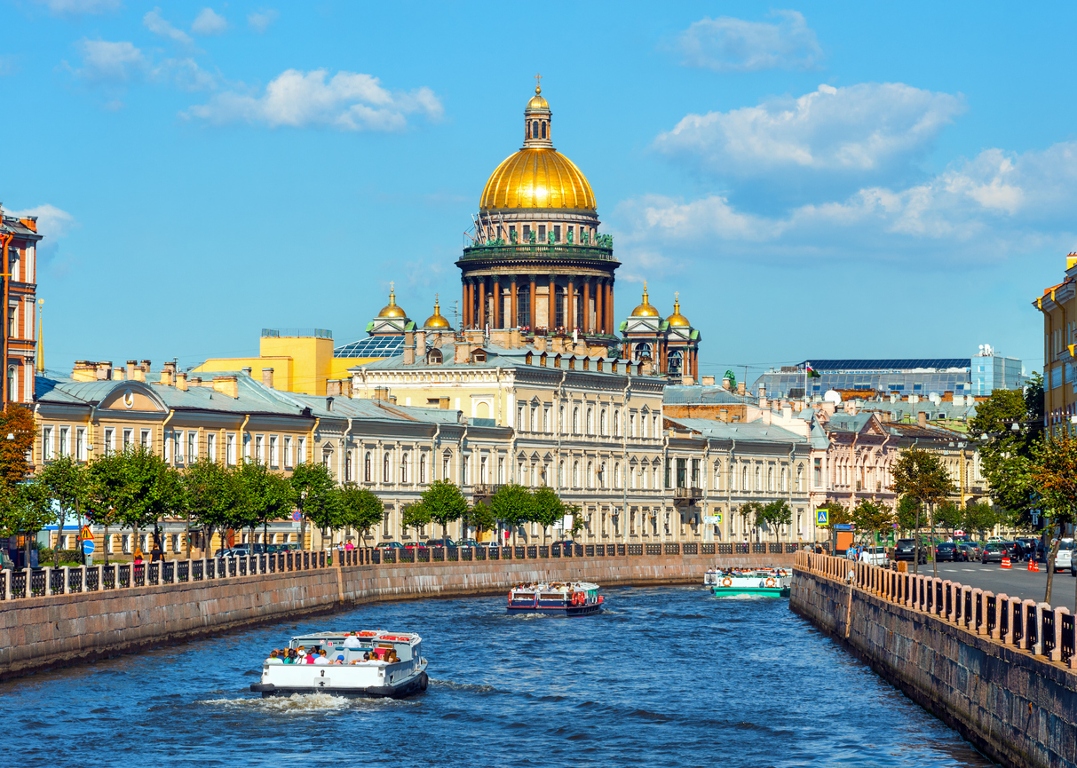 St Isaac's Cathedral across Moyka river