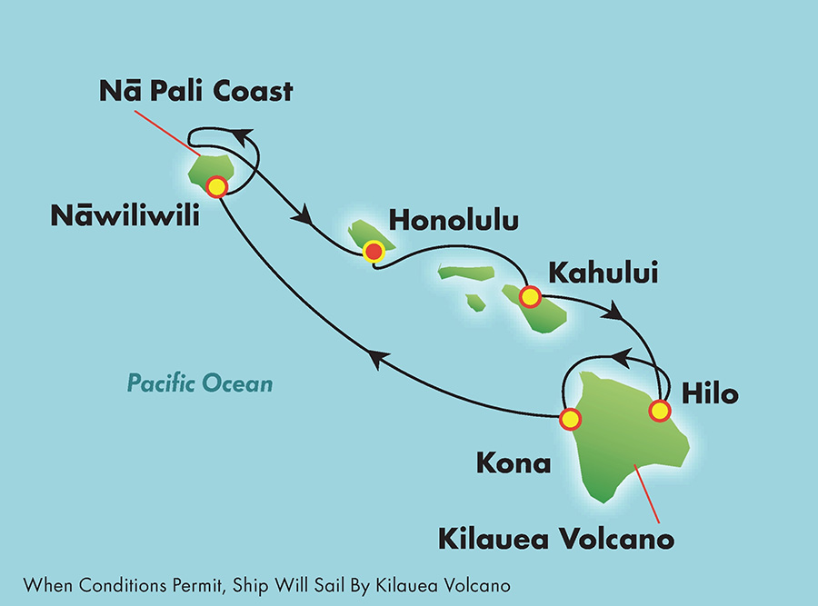 Hawaii cruise map